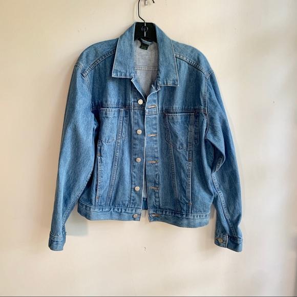 Vintage J. Crew Jean Denim Jacket Sz Small